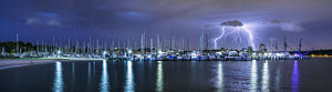 Lightning Over Matilda Bay Landscape Photography Print