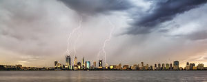 Lightning Over Perth Landscape Photography Print