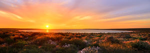 Little Lagoon Sunset, Shark Bay Landscape Photography Print