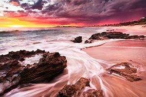 Marmion Beach Storm at Sunset Landscape Photography Print