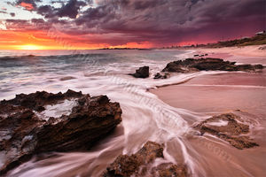 Marmion Beach Storm at Sunset Landscape Photography Print