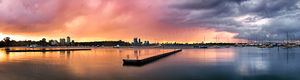 Matilda Bay Sunrise Landscape Photography Print