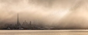 A Misty Morning on the Swan River Landscape Photography Print