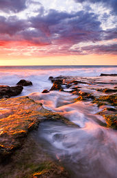 North Cottesloe Beach at Sunset Landscape Photography Print