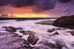 North Cottesloe Storm at Sunset Landscape Photography Print