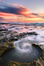 North Cottesloe Sunset Swirl Landscape Photography Print
