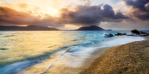 Nudey Beach at Sunset, Fitzroy Island Landscape Photography Print