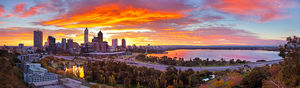 Perth City Sunrise  Landscape Photography Print