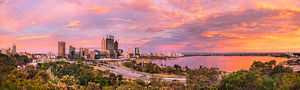 Perth City Sunset from Kings Park Landscape Photography Print
