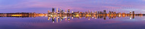 Perth City at Sunrise Landscape Photography Print