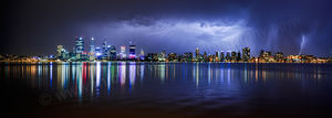 Perth Lightning 2 Landscape Photography Print