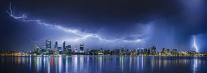 Perth Lightning 3 Landscape Photography Print