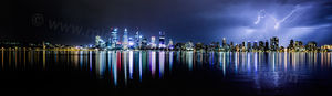Perth Lightning 5 Landscape Photography Print