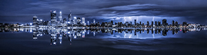 Perth Lightning Storm Landscape Photography Print