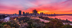 Perth Sunrise From Kings Park Landscape Photography Print