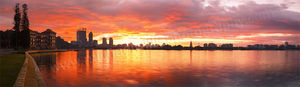 Perth City and the Old Swan Brewery at Sunrise Landscape Photography Print