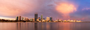 Perth at Sunset Landscape Photography Print