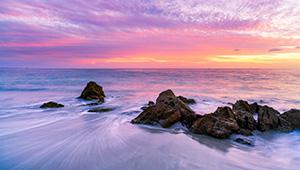 Quinns Rocks Beach at Sunset Landscape Photography Print