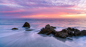 Quinns Rocks Beach at Sunset Landscape Photography Print