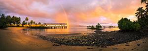 Rainbow over Port Douglas Sugar Wharf Landscape Photography Print