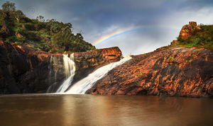 Rainbow over Serpentine Falls Landscape Photography Print