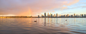 Rainbow Over Perth at Sunrise Landscape Photography Print