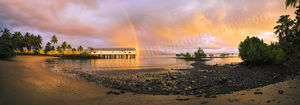 Rainbow over Port Douglas Sugar Wharf Landscape Photography Print