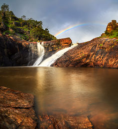 Serpentine Falls Rainbow Landscape Photography Print