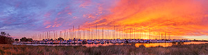 South of Perth Yacht Club at Sunrise Landscape Photography Print