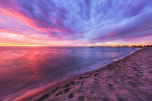 South Beach at Sunset Landscape Photography Print