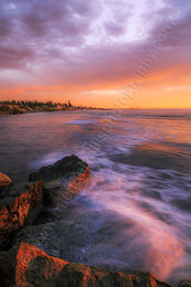 South Cottesloe Reef at Sunset Landscape Photography Print