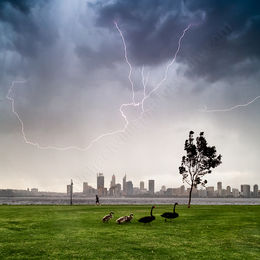 South Perth Storm Landscape Photography Print