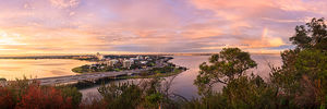 South Perth and The Swan River at Dawn Landscape Photography Print