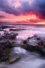 Spring Sunset at North Cottesloe Beach Landscape Photography Print