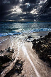 Storm Clouds Over Trigg Beach Landscape Photography Print