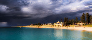 Stormy Skies over Cottesloe Beach Landscape Photography Print
