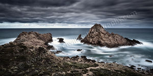 Stormy Skies Over Sugarloaf Rock Landscape Photography Print