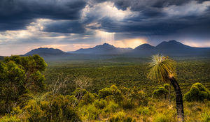 Sun Rays Over The Stirling Range Landscape Photography Print