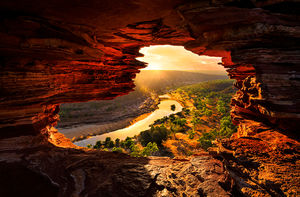 Sun Rays Through Nature's Window, Kalbarri National Park Landscape Photography Print
