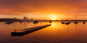 Sunrise at Matilda Bay Landscape Photography Print