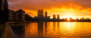 Sunrise over Perth and the Old Swan Brewery Landscape Photography Print