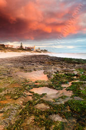 Sunset Over North Cottesloe Beach Landscape Photography Print