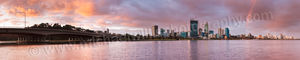 Sunset Rainbow Over Perth and The Swan River Landscape Photography Print