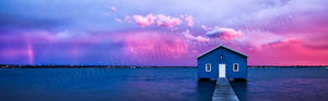 Sunset Storm at Crawley Edge Boatshed Landscape Photography Print
