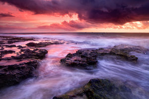 Sunset at North Cottesloe Beach Landscape Photography Print