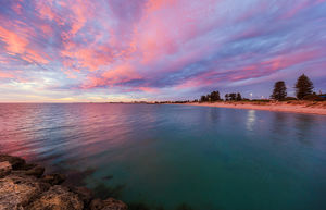 Sunset at South Beach Landscape Photography Print