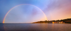 Swan River Rainbow Landscape Photography Print