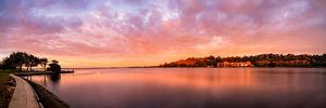 The Old Swan Brewery and Swan River at Sunrise Landscape Photography Print