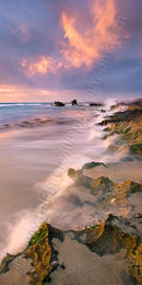 Trigg Beach at Sunset Landscape Photography Print
