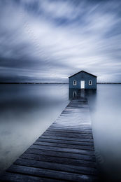 Winter Morning at Crawley Edge Boatshed Landscape Photography Print